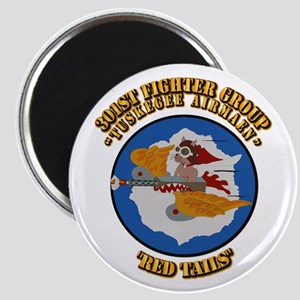 WWII Tuskegee Airmae Red Tail 301st FG Figh Magnet