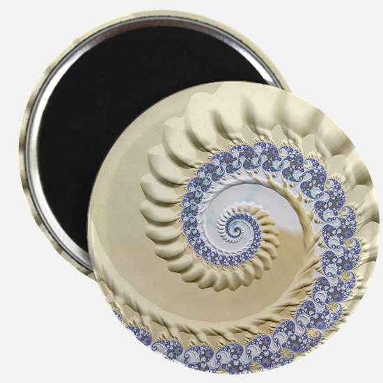 Seashell & Sand Fractal Nature Art Magnet