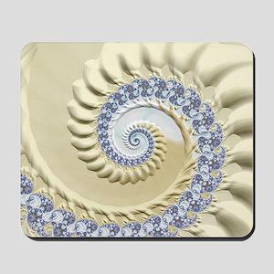 Seashell & Sand Fractal Nature Art Mousepad