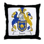 Jason Family Crest Throw Pillow