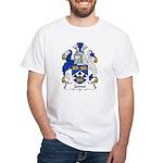 James Family Crest White T-Shirt