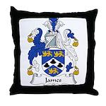 James Family Crest Throw Pillow