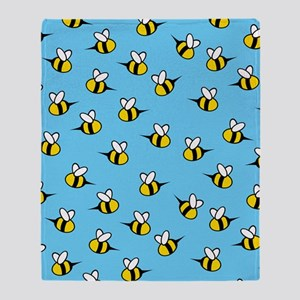Cute Bees Throw Blanket