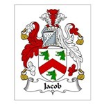 Jacob Family Crest Small Poster