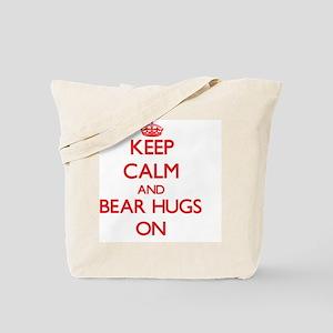 Keep Calm and Bear Hugs ON Tote Bag
