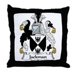 Jackman Family Crest Throw Pillow