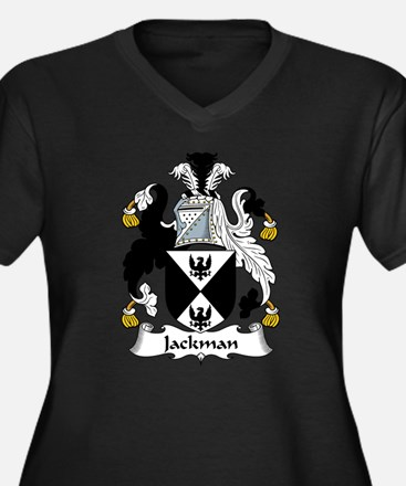 Jackman Family Crest Women's Plus Size V-Neck Dark