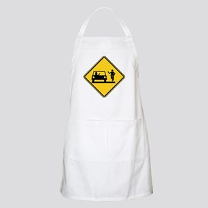 Car vs.Bicycle Road Rage Apron