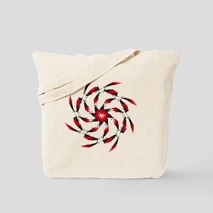 Red Tuna Spiral. Fish Retro Tuna RCM Wild Tote Bag