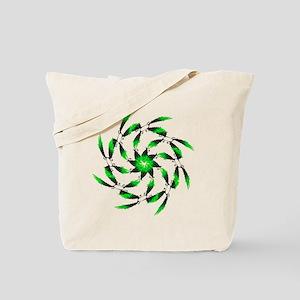 Green Tuna Spiral. Fish Retro Tuna RCM W Tote Bag