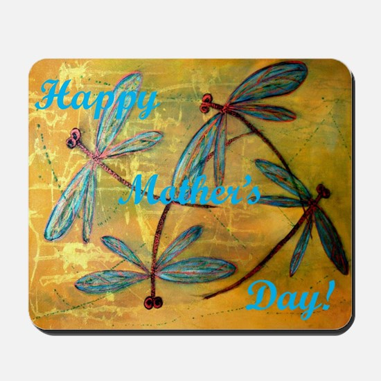 Happy Mother's Day Dragonfly Haze Mousepad