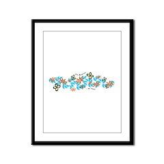 Jumbo Fleur Framed Panel Print