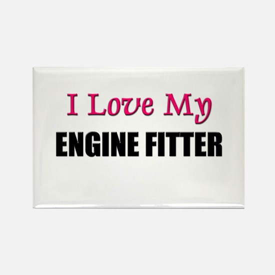 I Love My ENGINE FITTER Rectangle Magnet
