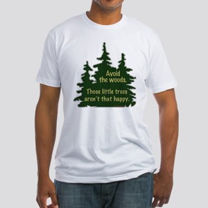 Happy Trees Fitted T-Shirt