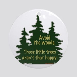 Happy Trees Ornament (Round)