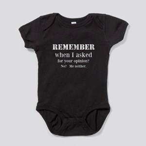 Your Opinion Baby Bodysuit