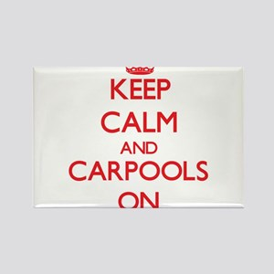 Keep Calm and Carpools ON Magnets