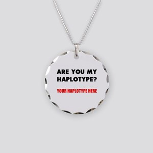 Personalized Genealogy Necklace Circle Charm