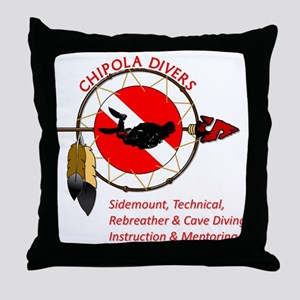 Chipola Divers Throw Pillow