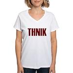 THNIK Women's V-Neck T-Shirt