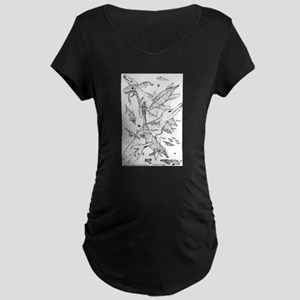 Ancient Waters Maternity Dark T-Shirt