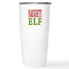Naughty Elf 16 oz Stainless Steel Travel Mug