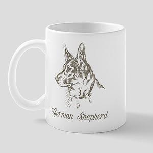 Vintage German Shepherd Mug