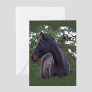 Greystoke horse Greeting Cards