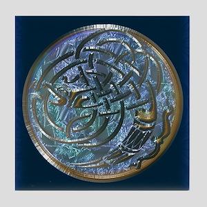 Dark Celtic Heron Tile Coaster