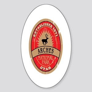 Arches National Park Oval Sticker