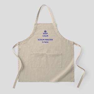 Keep calm scrum master blue Light Apron