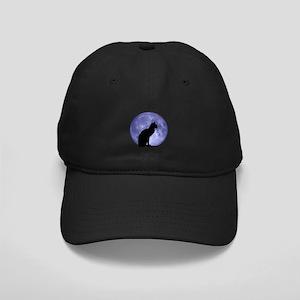 Cat & Moon Black Cap