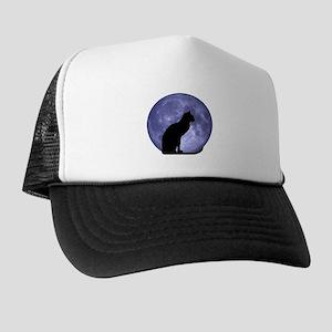 Cat & Moon Trucker Hat
