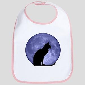 Cat & Moon Bib