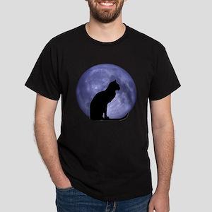 Cat & Moon Dark T-Shirt
