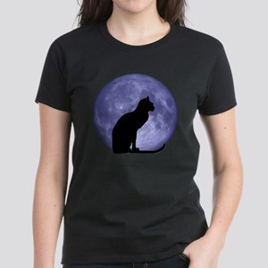 Cat & Moon Women's Dark T-Shirt