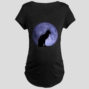 Cat & Moon Maternity Dark T-Shirt