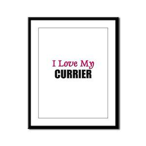 I Love My CURRIER Framed Panel Print