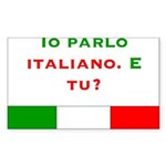 Io parlo italiano/Rectangle Sticker