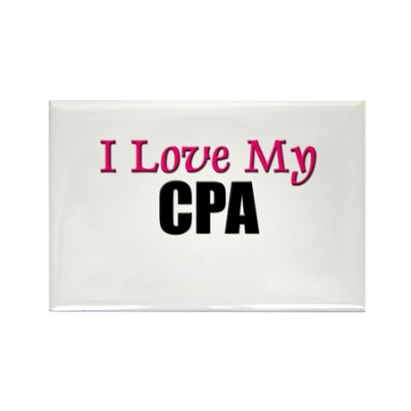 I Love My CPA Rectangle Magnet (10 pack)