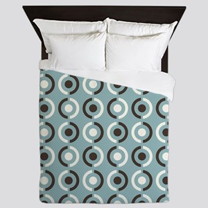 Retro Circle Dots Pattern Queen Duvet