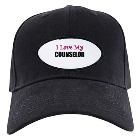 I Love My COUNSELOR Black Cap