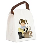 Puppy Dog Friends Canvas Lunch Bag