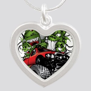 Ghoulish Monster Race Truck Necklaces