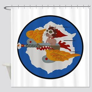 WWII Tuskegee Airmae Red Tail 301st Shower Curtain