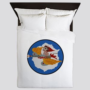 WWII Tuskegee Airmae Red Tail 301st FG Queen Duvet