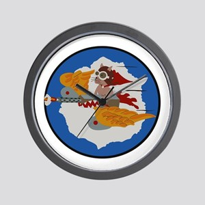 WWII Tuskegee Airmae Red Tail 301st FG Wall Clock