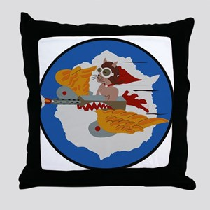 WWII Tuskegee Airmae Red Tail 301st F Throw Pillow