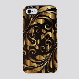 vintage floral gold ornament iPhone 7 Tough Case