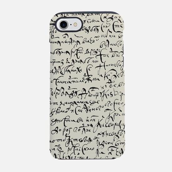 Ancient Manuscript iPhone 7 Tough Case